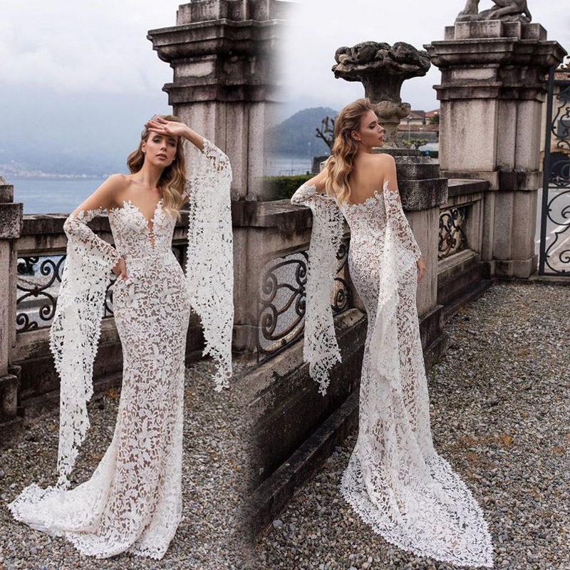 2019 Europe And America Foreign Trade New Style WOMEN'S Dress EBay Dunhuang Hot Selling Sexy Deep V Long Sleeve Formal Dress Lon