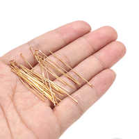 50pcs/lot  Stainless Steel Gold Flat Head Pins for Beading DIY Making  Findings