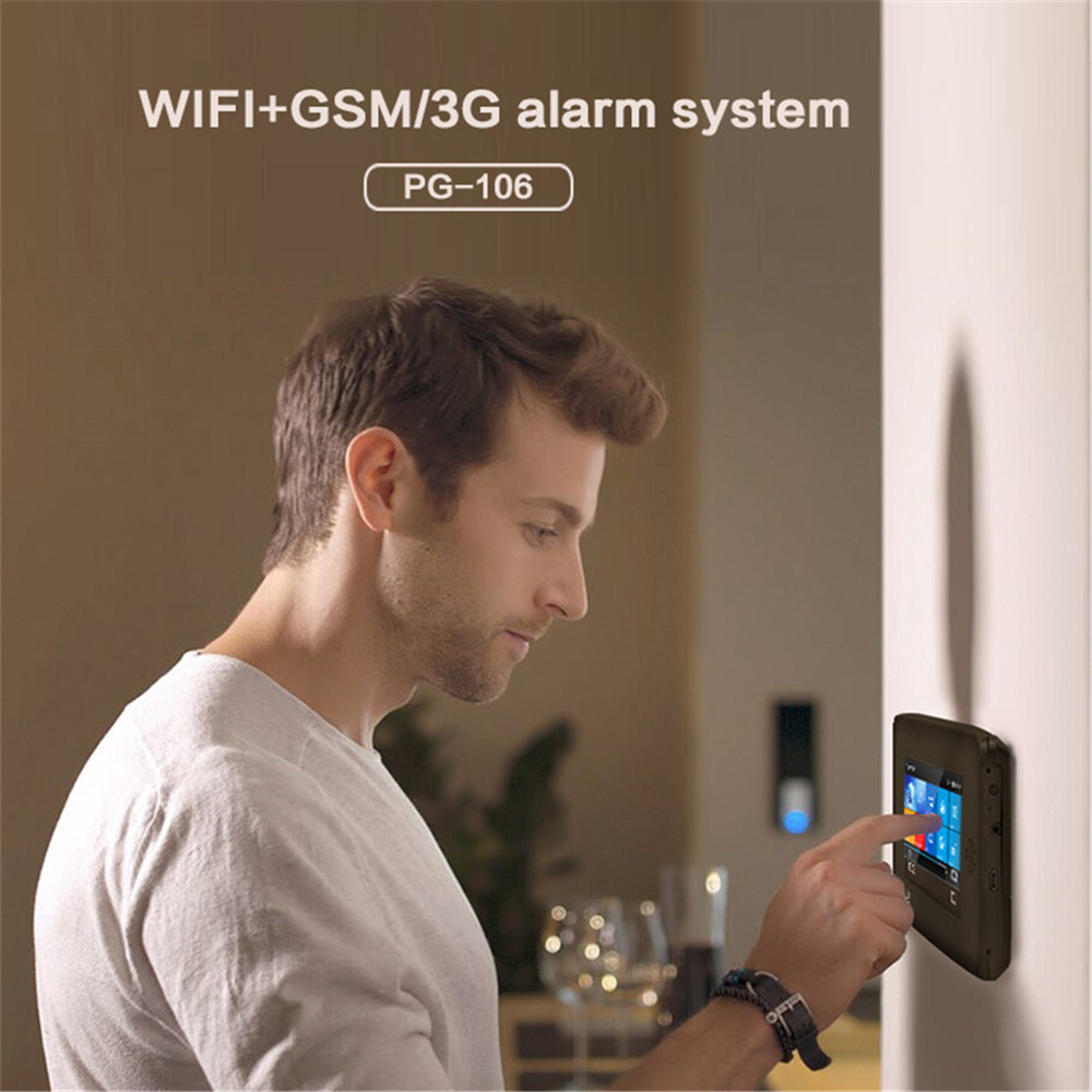 3G Version TFT Alle Touch Screen WIFI GPRS Drahtlose APP Fernbedienung Smart Home Security Alarm Systeme Für IOS /Android System - 4