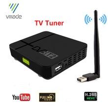 Vmade-Caja receptora de TV Digital terrestre DVB T2, sintonizador de TV HD H.265, compatible con Youtube, Europa, España, Francia