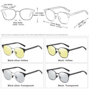 Image 5 - Солнцезащитные очки поляризационные для мужчин и женщин, умные фотохромные круглые очки дневного и ночного видения, для вождения