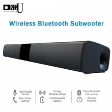 20W Senza Fili di Bluetooth Soundbar Altoparlanti Stereo Home Theater Audio TV Sound Bar Sistema Audio Surround Colonna Dual Subwoofer