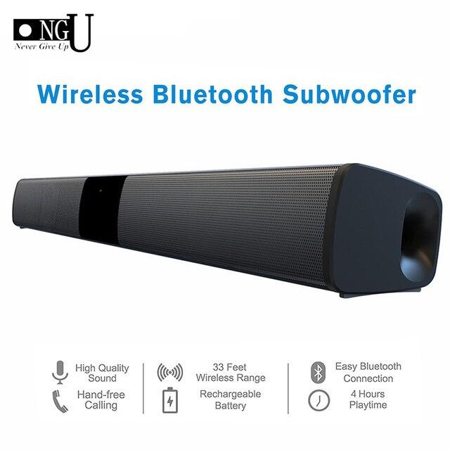 Barra de som estéreo wireless bluetooth de 20w, alto falantes de home theater, barra de som para tv, sistema de som surround duplo, subwoofertas