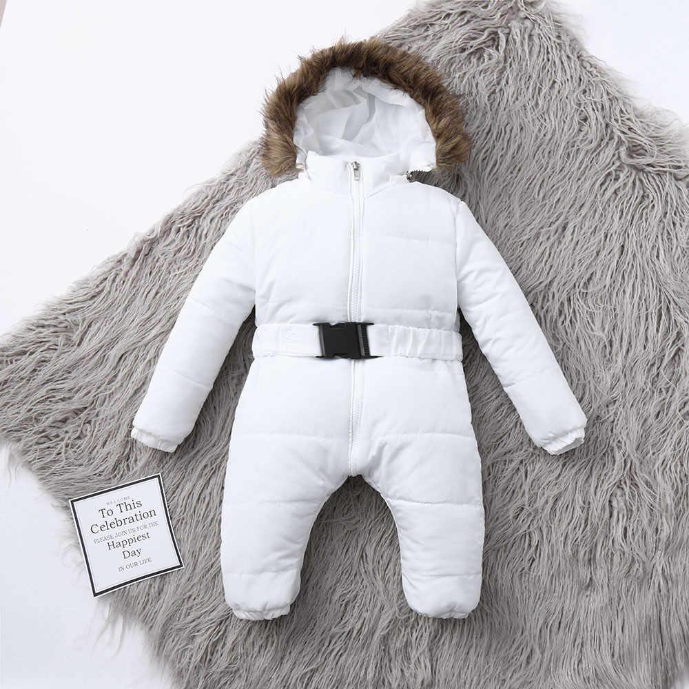 冬服幼児ベビー防寒着少年少女ロンパースジャケットフード付きジャンプスーツ暖かい厚手コート衣装 2020 vetement 新 fille-