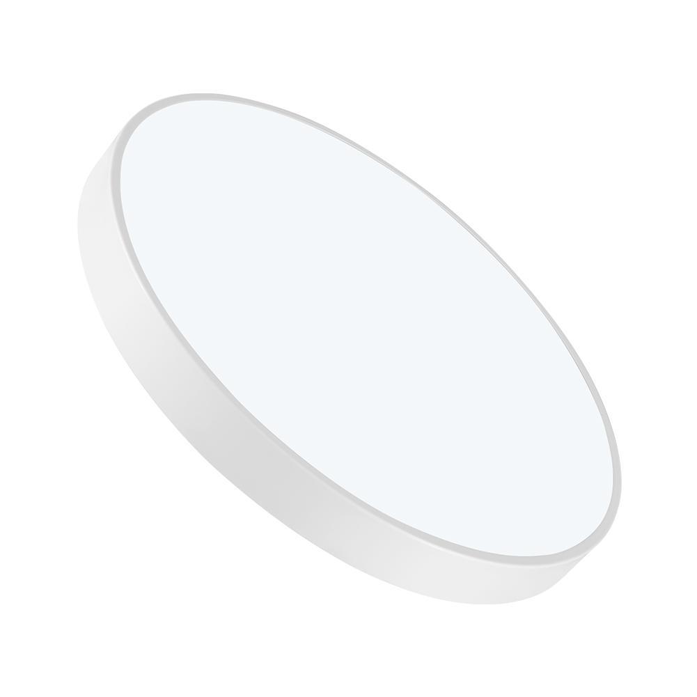 Ультра тонкий круглый светодиодный потолочный светильник для ванной комнаты, кухни, гостиной, лампы на День/теплый белый с регулируемой ярк
