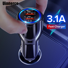 3.1A Car Charger Quick Charge 3.0 Universal Dual USB Fast Charging QC For iPhone X Samsung Xiaomi Huawei Mobile Phone In Car dual usb quick charge qc3 0 car charger for iphone xiaomi pocophone f1 huawei samsung mobile phone fast charging adapter in cell