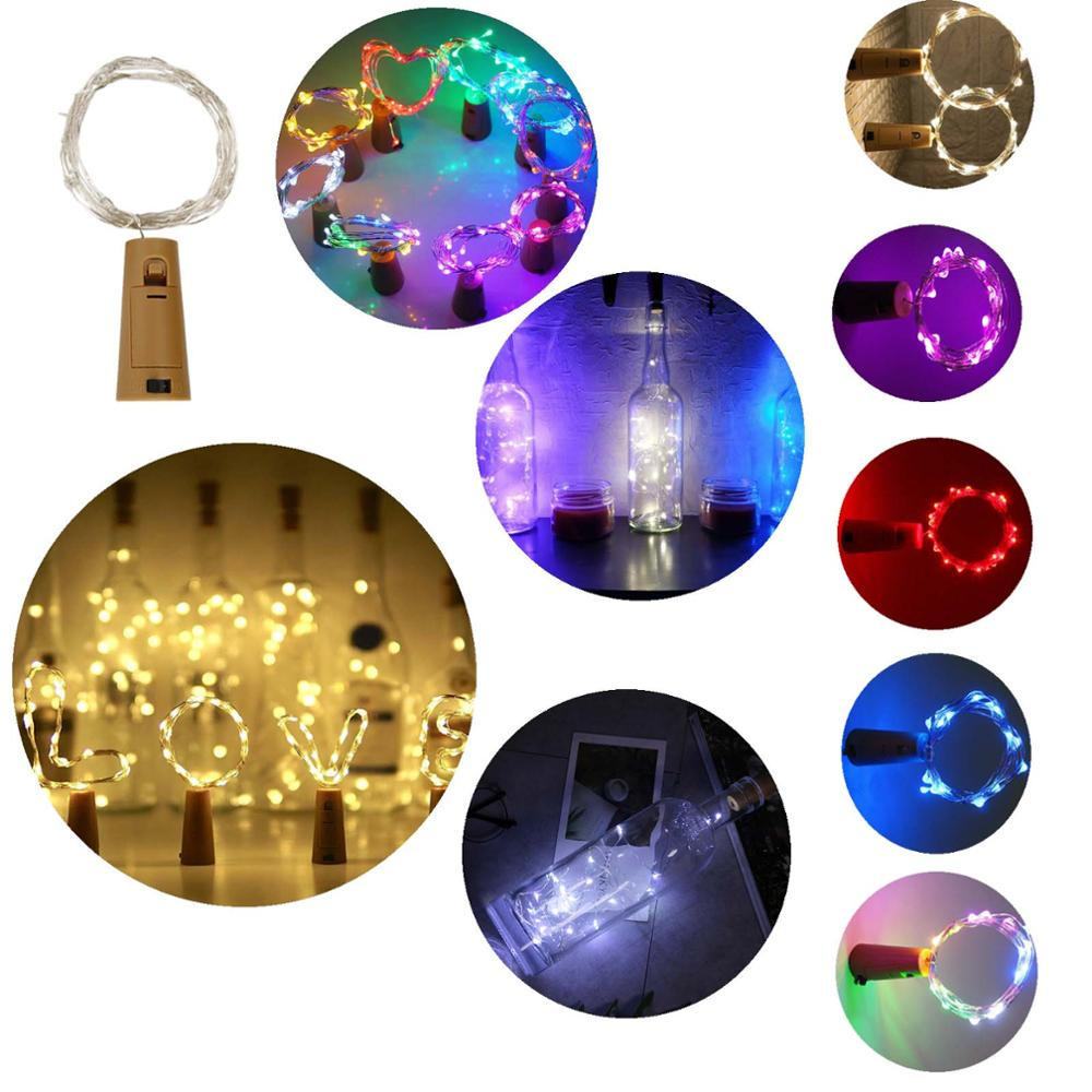 3M 9.84ft 30 LED String Cork Shaped Silver Copper Wire Fairy Light LR44 Battery Wine Bottle For Glass Craft Xmas Party Decor