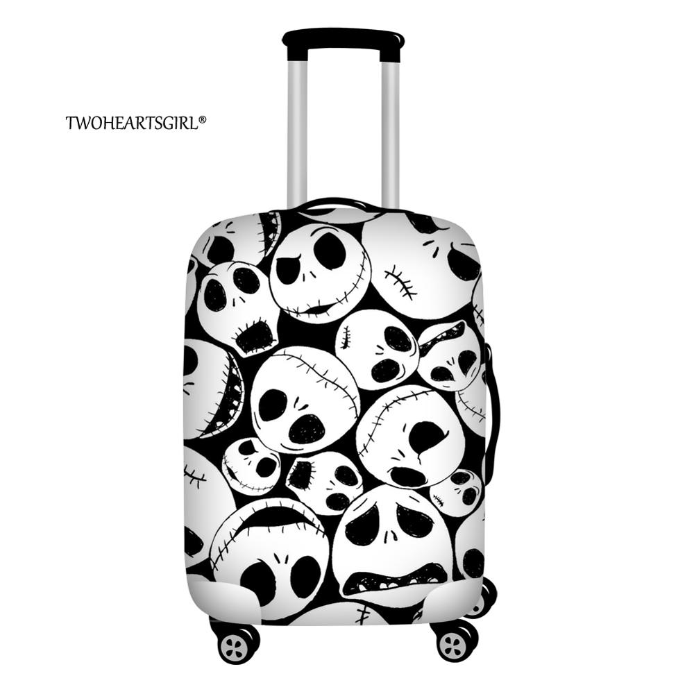 Twoheartsgirl Waterproof The Nightmare Before Christmas Luggage Cover For 18-32