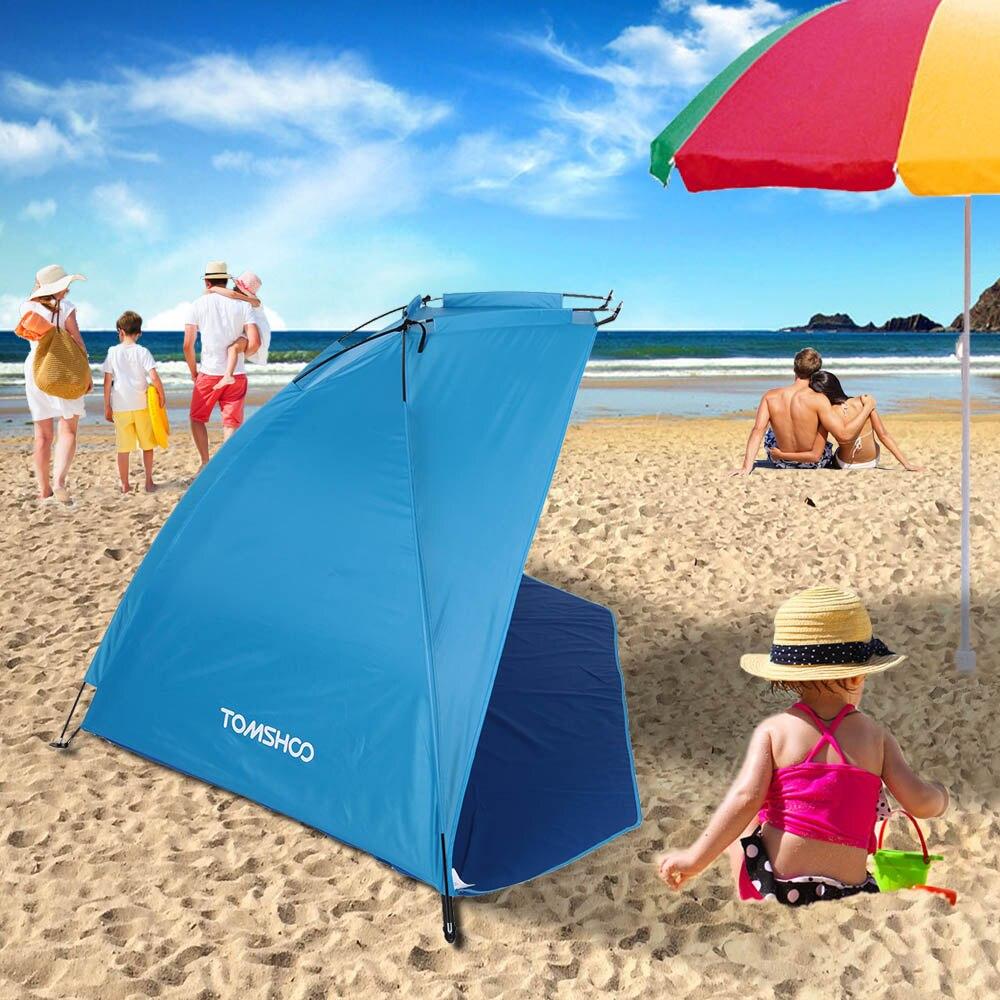 TOMSHOO extérieur ultra-léger Camping tente Sports de plein air parasol tente pour pêche pique-nique plage parc Barraca Anti-moustique tentes