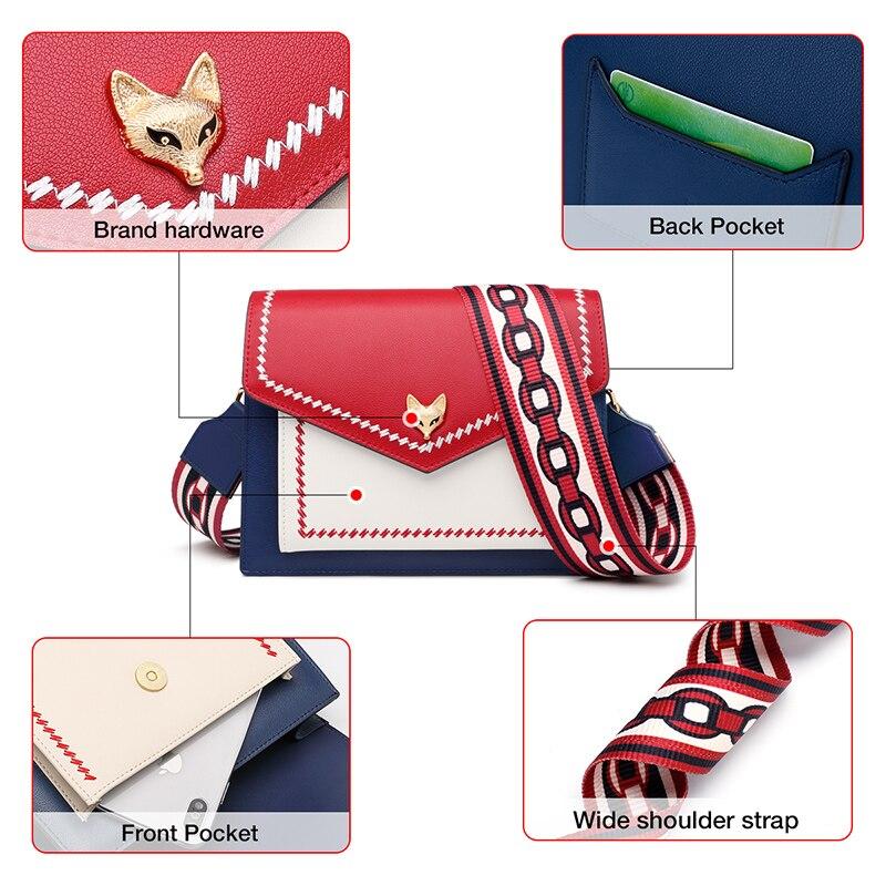 Foxer Habsy Women Leather Crossbody Bag
