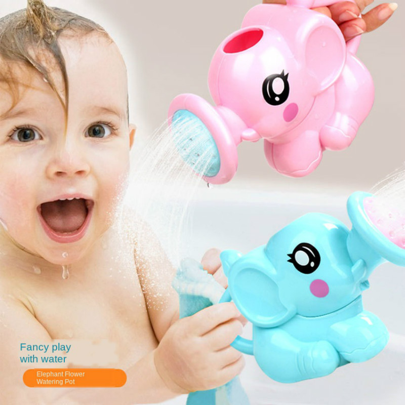 Baby Bath Cartoon Elephant Washing Head Waterfall Rinser Kids Shampoo Cup Bath Shower Washing Hair Cup Newborn Baby Acessories