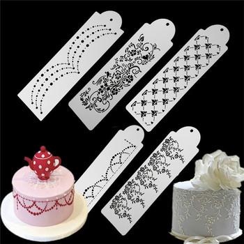 VOGVIGO z dziurką kwiaty Snowflake Spray ciasto formy wzór Vintage ciasto powierzchni ciasto wzornik Spray Cookie szablony dekoracji tanie i dobre opinie Ce ue Lfgb Ciasto narzędzia Ekologiczne Z tworzywa sztucznego JJOP41800001 Cake Tools Eco-Friendly Moulds Opp Bag Food grade Plastic