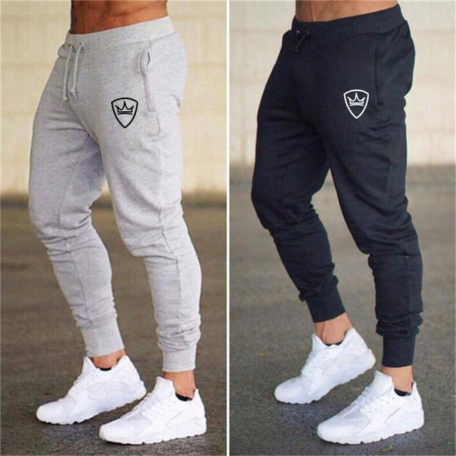 2018 summer New Fashion Thin section Pants Men Casual Trouser Jogger Bodybuilding Fitness Sweat Time limited Sweatpants 1