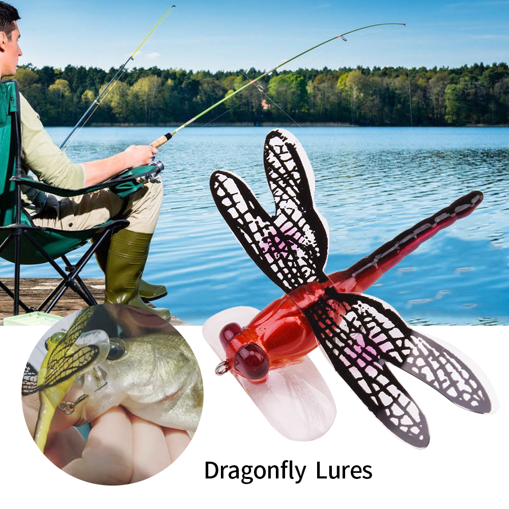 SFIT Dragonfly Fishing Lure Insect Fly Fishing Lure 6g 7cm Trout Popper Artificial Bait Wobbler For Trolling Hard Lure Fish Hook