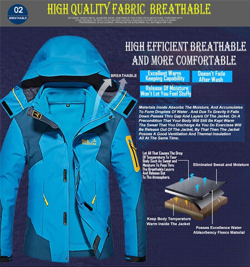 casaco térmico para ao ar livre montanha