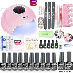 Image 3 - Маникюрный набор, светодиодная УФ лампа для ногтей, сушилка с 10 шт., набор гелей для ногтей, набор для ногтей, набор для замачивания, комплект гель лаков для ногтей, инструменты для дизайна ногтей