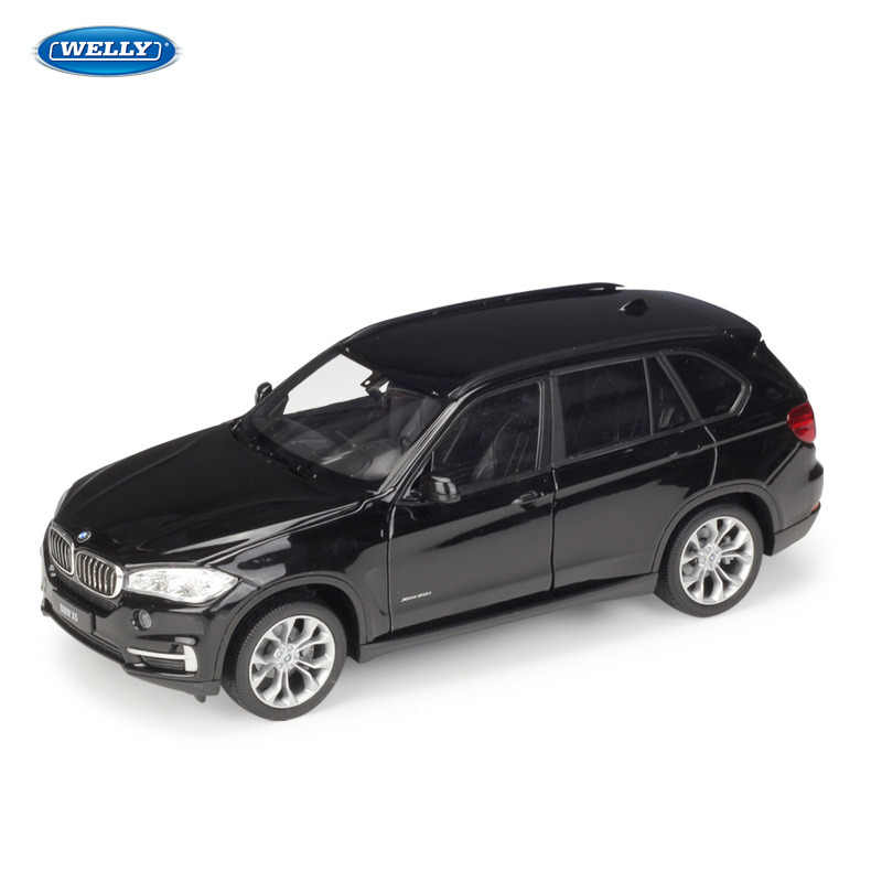 WELLY 1:24 BMW X5 off-road vehicle SUV  sports car machine Simulation Alloy Car Model Collection toy tools