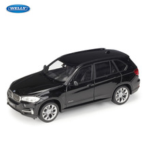 цена на WELLY 1:24 BMW X5 off-road vehicle SUV  sports car simulation alloy car model crafts decoration collection toy tools gift