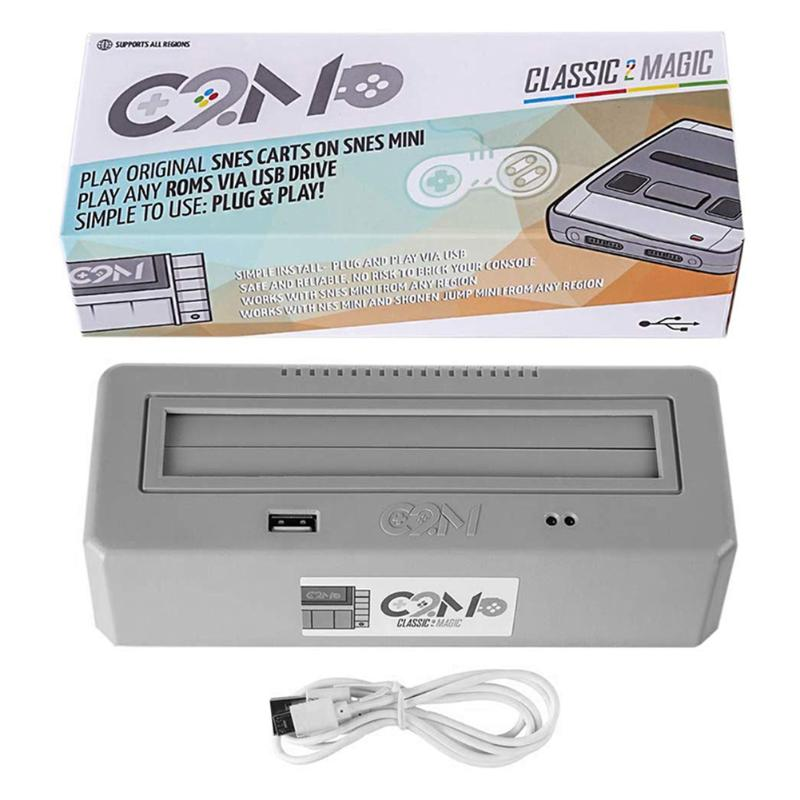 Classic 2 Magic Plays Original SNES Game Carts Adapter Box Accessories For Family Computer & For Nintend Entertainment System