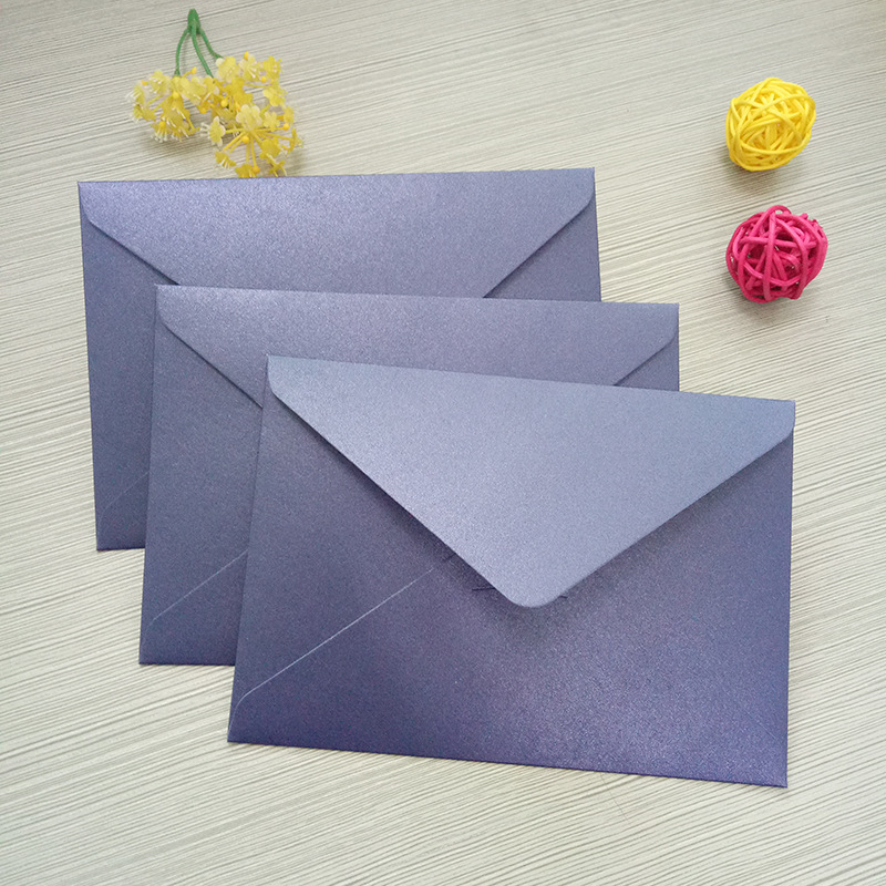 Manufacturers Wholesale C6 Pearl Paper Envelope Top Grade Business Invitation Envelope Customizable-Bronze Printing Logo