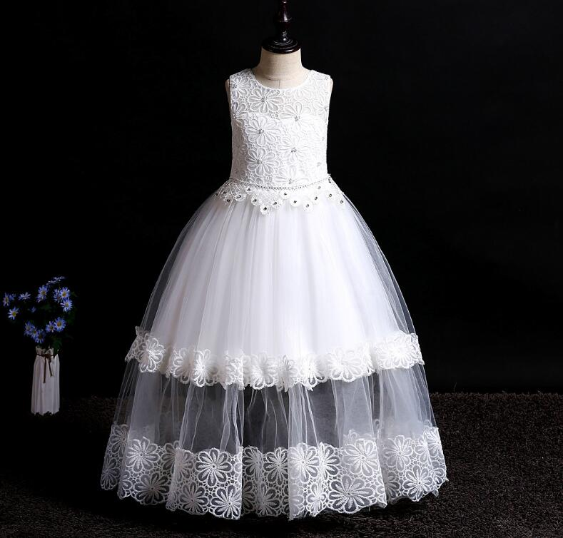 Cheap New Long Formal Princess   Dress   Cheap   Flower     Girl     Dress   For Special Occasion In Stock   Girls   Birthday Party Gowns