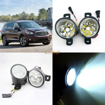 July King 18W 6LEDs H11 LED Fog Lamp Assembly Case for Infiniti JX35 QX60 2013-2020,  6500K 1260LM LED Daytime Running Lights