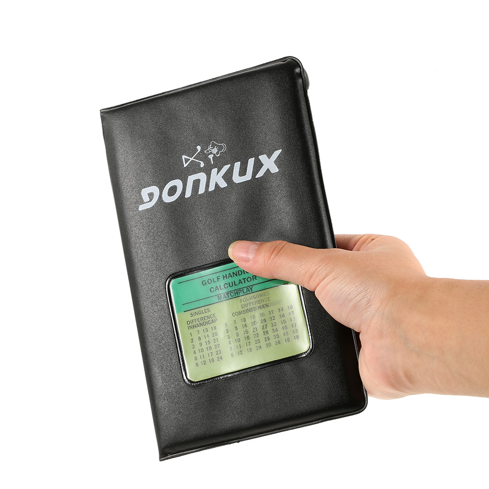 GONKUX Golf Score Tracker Golf Stat Notebook Score Tracking Card Scorecard Holder Golf Accessories Training Aids With Pencil