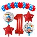 15 шт./компл. плим клоун Фольга воздушные шары с гелием 30 дюймов номер воздушные Globos дети День рождения украшения для душа для детей, игрушки д...