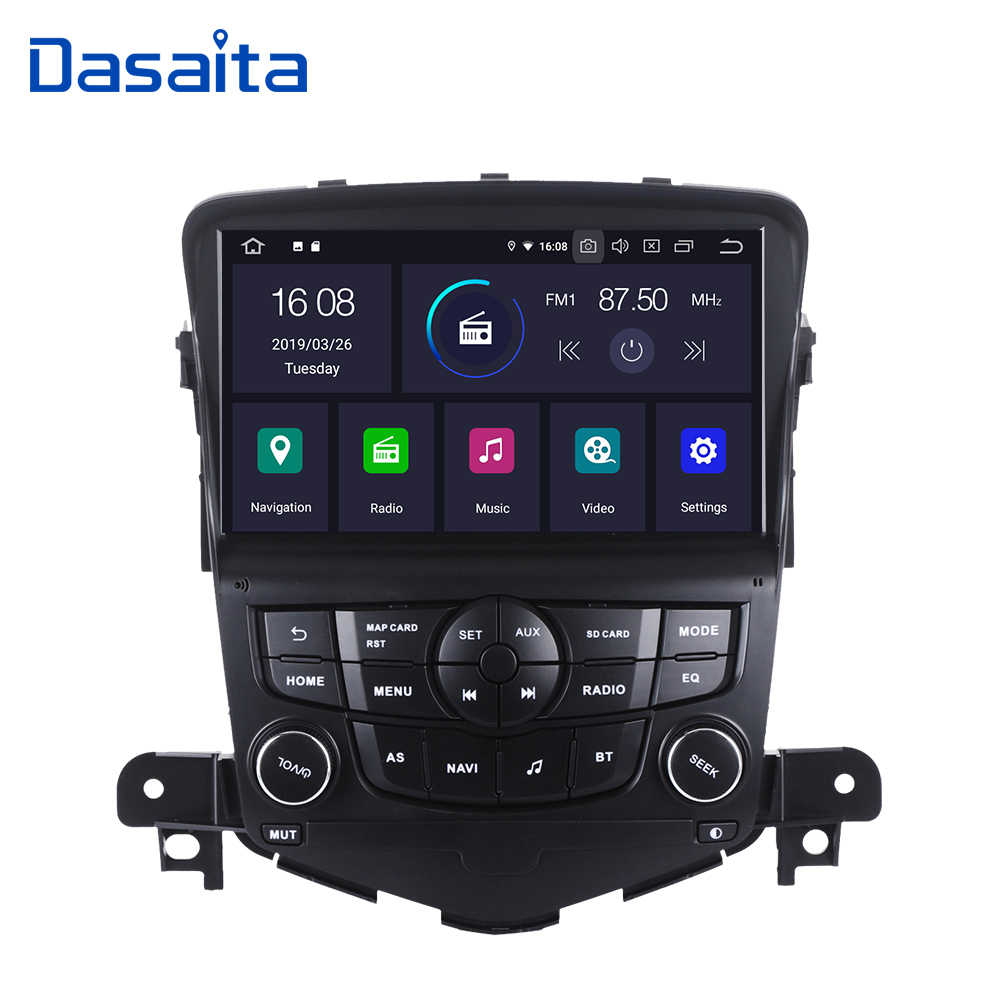 "Dasaita 8 ""Touch Screen 1280P Video Android 9.0 voor Chevrolet Cruze 2008 2009 2010 2011 Auto bluetooth GPS navigator Systeem"