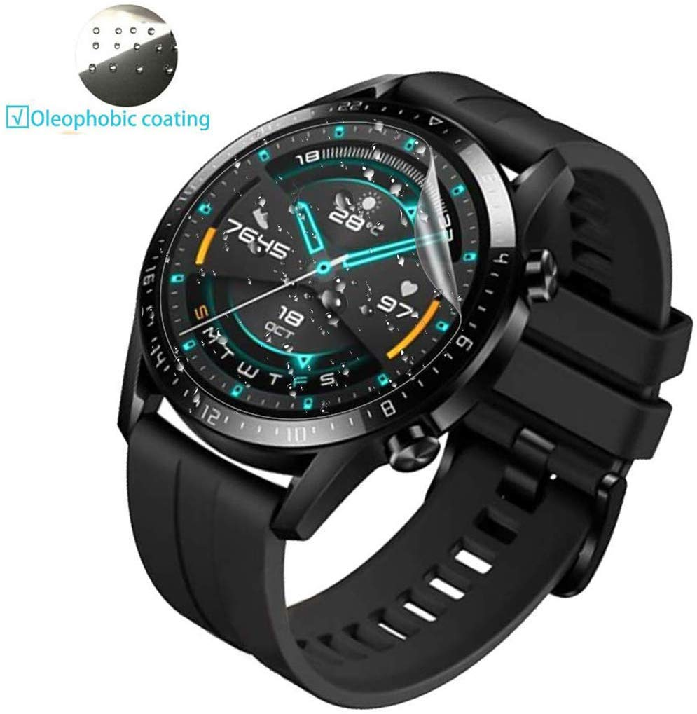 1/3pc Protective HD Film For Huawei Watch GT 46mm GT 2 (46mm) Clear TPU Premium Screen Protective Film Anti-Scratch Accessories