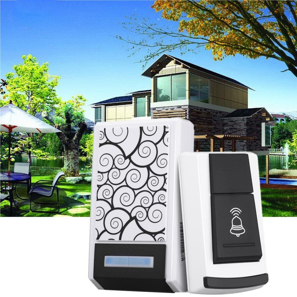Wireless Doorbell Smart Home Security 100M Range Exchange Digital Music Remote Control Waterproof Doorbell With LED Light