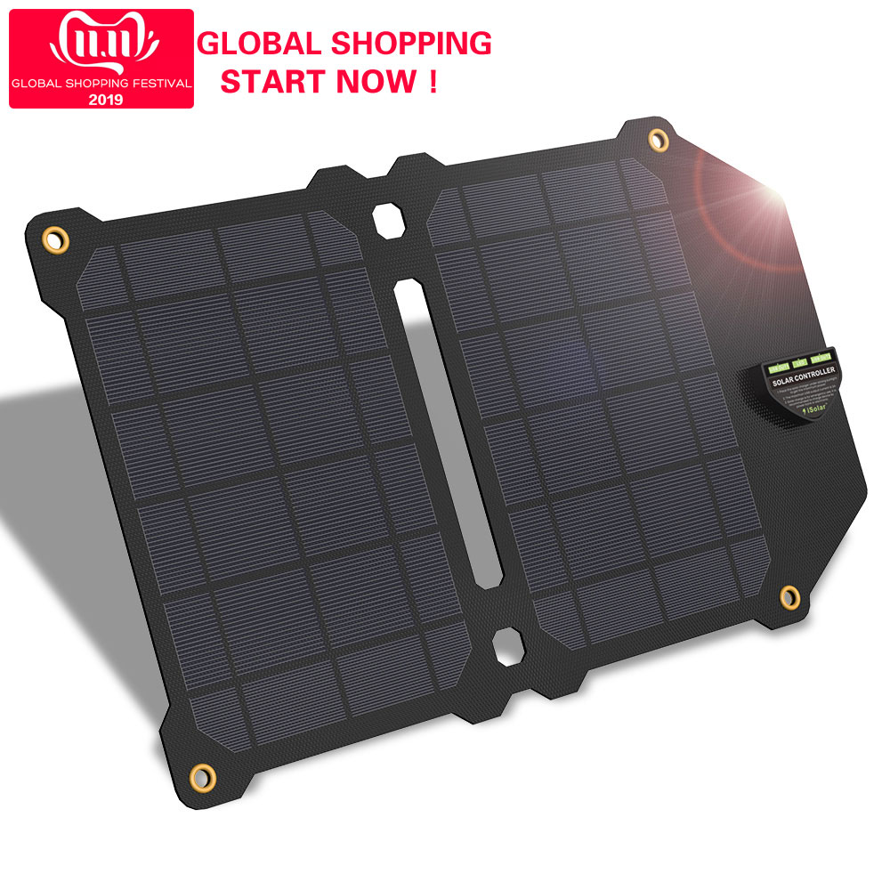 New Arrival ALLPOWERS Solar Panels Charger Waterproof for iPhone X XR Xmax Samsung Honor HTC Sony.