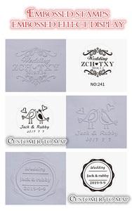 Image 5 - עיצוב משלך הבלטת חותמת/מותאם אישית הבלטת חותם עבור אישית/חתונה חותם מעטפת עור