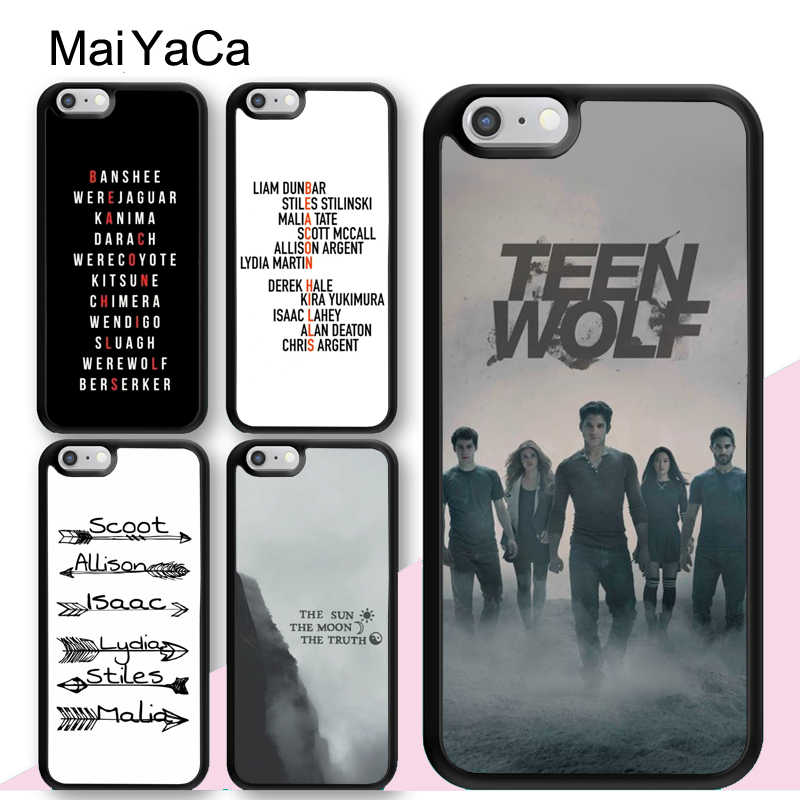 MaiYaCa Teen Wolf Beacon Hills Case For iPhone 12 mini 11 Pro Max SE 2020 6S 7 8 Plus 5S XS Max XR X Back Cover Coque