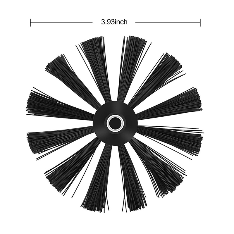 1*Cleaning Brush Head Dryer Pipeline Nylon Cleaning Brush Head Inner Wall Oil Fume Machine Chimney (without Rod) High Quality