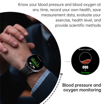 LIGE New 2021 Smart Watch Men Full Touch Screen Sports Fitness Watch IP67 Waterproof Bluetooth For Android ios smartwatch Mens 5