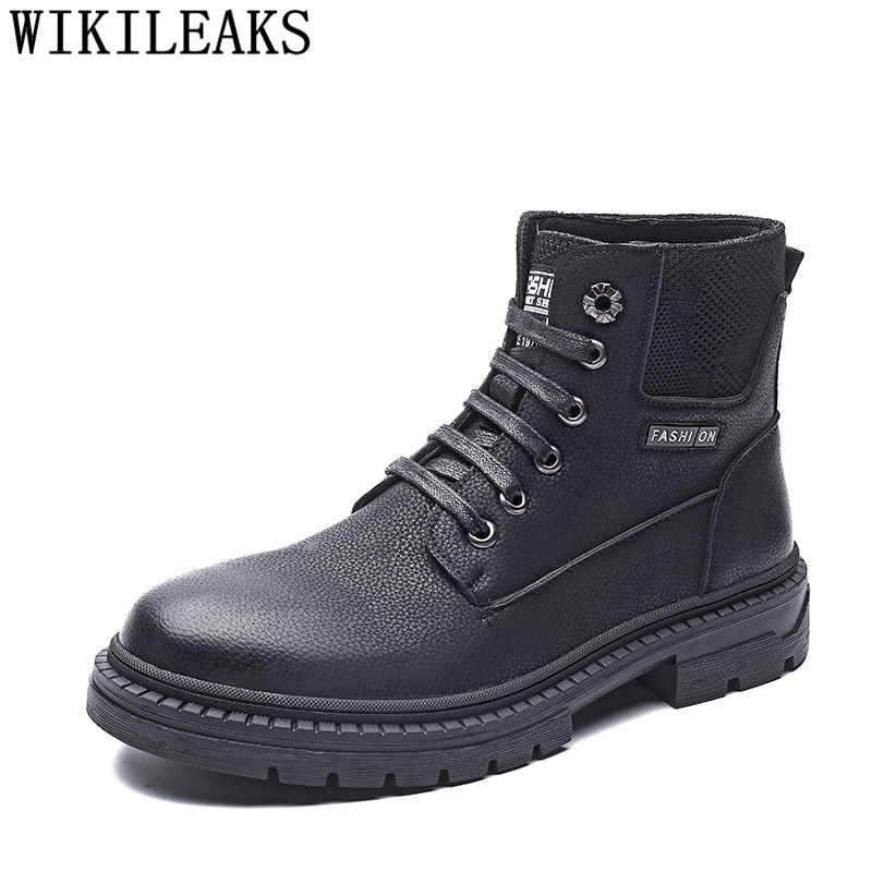 Men Boots Elevator-Shoes Genuine-Leather Ankle for Hot-Sale Zapatos-De-Hombre