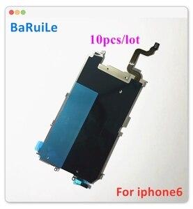 Image 1 - BaRuiLe شاشة LCD خلفية مع درع معدني لجهاز iPhone 6 Plus 6G ، لوحة خلفية ، زر الصفحة الرئيسية ، توسيع قطع غيار الكابلات المرنة ، 10 قطعة