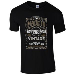 Made in 1963 T-Shirt urodzony 55. Rok urodziny wiek obecny Vintage śmieszne męskie prezent fajne Casual duma tshirt mężczyźni Unisex nowa moda