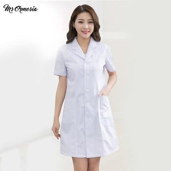 new fashion cotton breathable nursing suit scrub unisex white large size clothes nursing suit long-sleeved experimental jacket