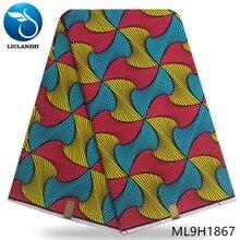 LIULANZHI african cotton 6 yards wax fabrics for dresses high quality 2019 prints ML9H1867