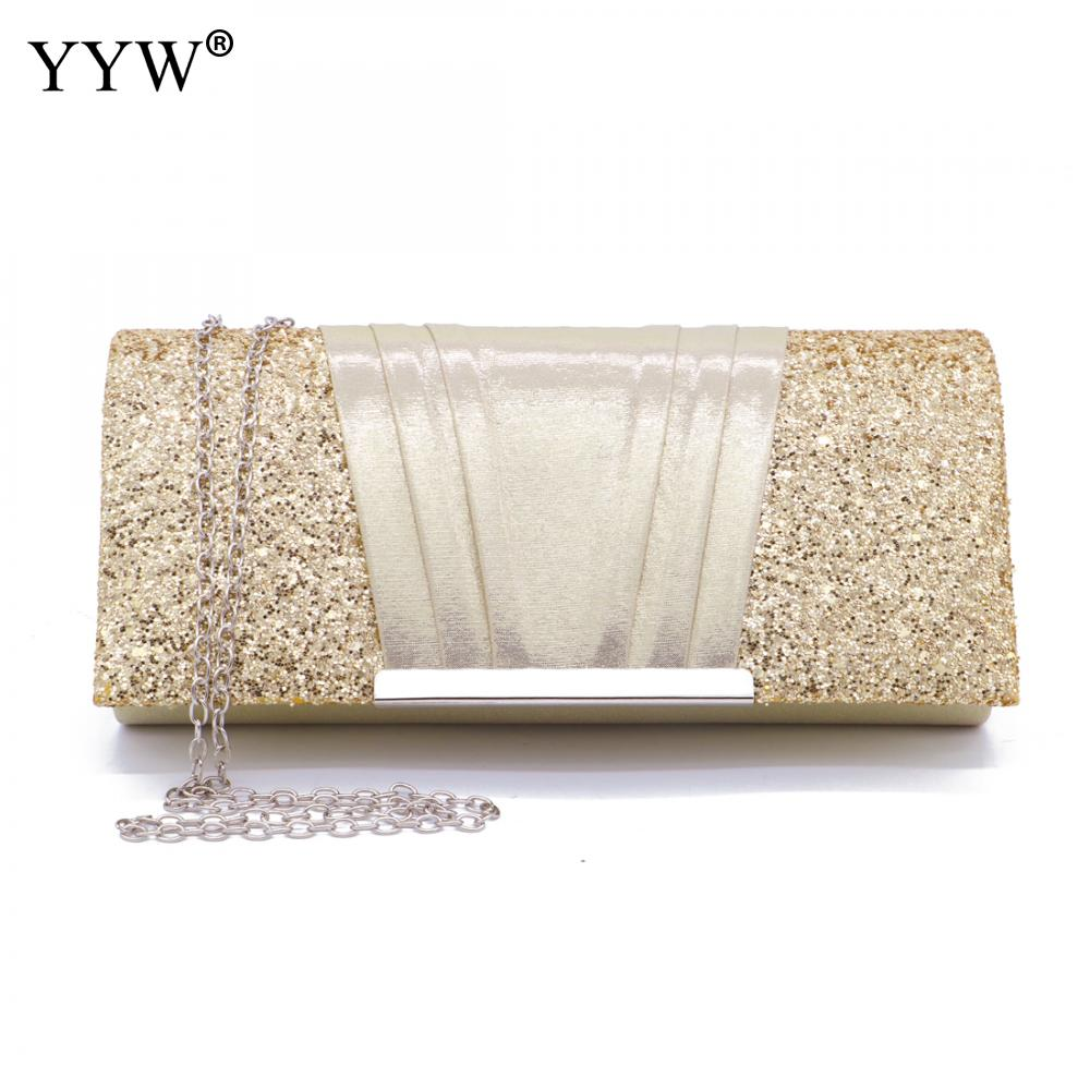 Fashion Clutch Purse Elegant Glitter Evening Bags Bling Clutches Handbag for Dance Wedding Party Prom Bride