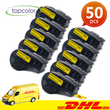 Topcolor 50PK M21-750-595 YL Industrial Label Tapes Compatible Brady Label Printer BMP21 PLUS IDPAL LABPAL Black on Yellow Vinyl uniplus 750 595 vinyl label tapes replace brady label printer bmp21 plus labpal idpal m21 750 595 white on green adhesive sticky
