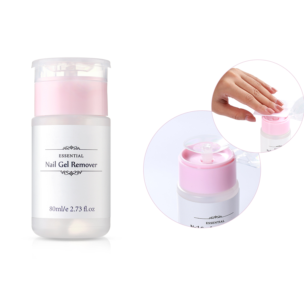 1pc 80ml Nail Surface Cleanser Gel Polish Remover UV Gel Sticky Remover Liquid Enhance Shine Effect Cleanser Remover Tool