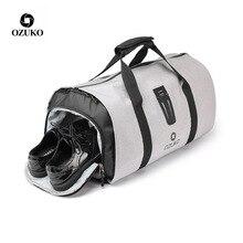 OZUKO многофункциональный мужской костюм дорожная сумка рюкзак большой емкости Вещевой мешок костюм для хранения поездки багажные сумки с сумкой для обуви