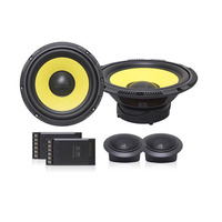 6.5inch Classic Speaker Set Car Audio 4Ohm Mid range Speakers With Dome Tweeter And Crossover Divider