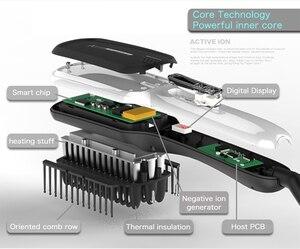 Image 4 - Masseur de cheveux professionnel brosse Mini rapide ionique en céramique électrique lisseur brosse
