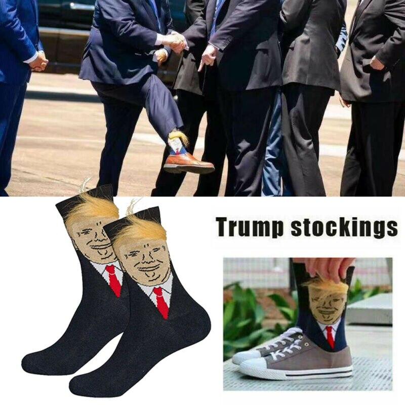 Calcetines para hombre, presidente Donald Trump, hacen a Estados Unidos grande de nuevo MAGA USA-1 par Transpirable hombres zapatos deportivos de hombre Vulcanize de malla antideslizante suela plana zapatillas de running de encaje Casual zapatos 35-48 zapatos para hombre