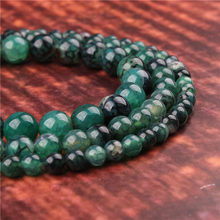 Fashion jewelry 4/6/8/10/12mm Green Dragon Agate, suitable for making jewelry DIY bracelet necklace