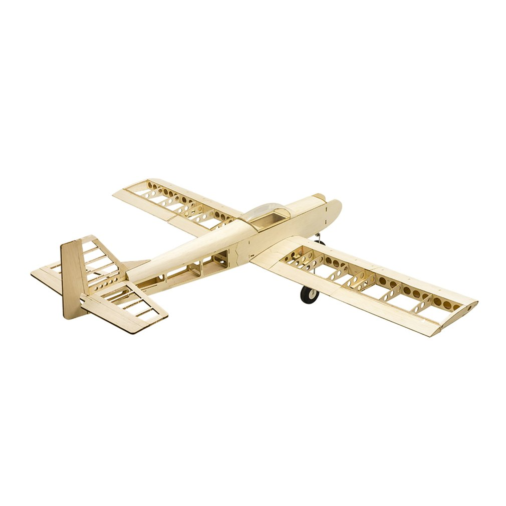 EP GP Astro Balsa Wood Training Plane 1.4M Wingspan Biplane RC Airplane Aircraft Woodiness Model Toys DIY KIT for Kid image